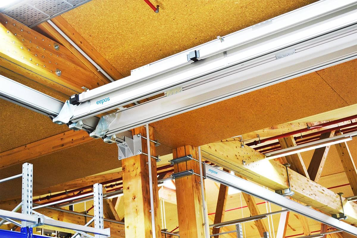 Anbindung an Hallenkonstruktion