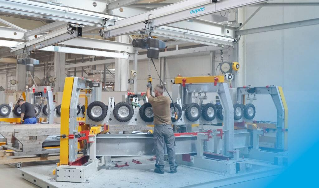 eepos Kransystem in der Produktion von Doppelmayr